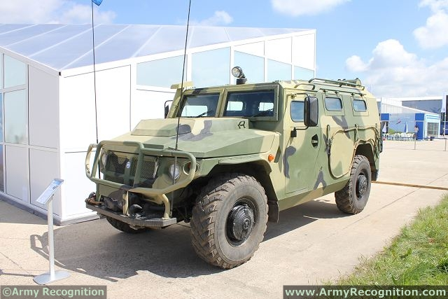 Tigr-M GAZ-233114 4x4 multipurpose tactical armoured vehicle technical data sheet specifications information description pictures photos images video intelligence identification Russia Russian Military Industrial Company army defence industry military technology equipment