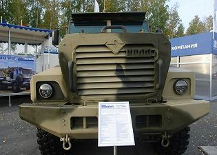 Ural-63095 typhoon multi-purpose 6x6 armoured truck Russia Russian defence industry military technology front side view 001