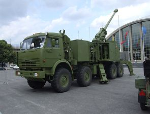 Nora B-52 155mm wheeled self-propelled howitzer technical data sheet specifications description information intelligence pictures photos images identification Yugoimport Serbia Serbian defence industry army military technology