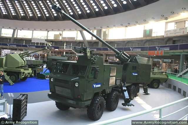 Nora B-52K1 155mm 52 caliber 8x8 self-propelled howitzer technical data sheet specifications description information intelligence pictures photos images identification YugoImport Serbia Serbian defence industry army military technology