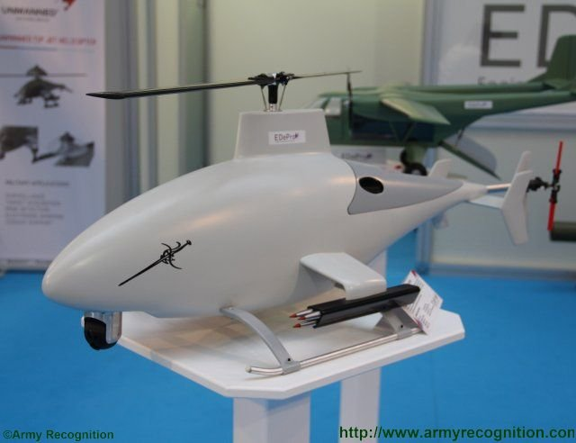 EDePro introduces two new porject of UAV at PARTNER 2015 the Rapier and the Atrox 640 001