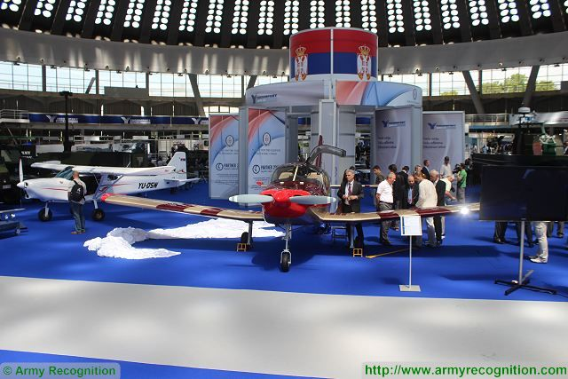 This year, during the official visit of the exhibition, Yugoimport has unveiled two new products, the SOVA, a four seats trainer and light attack aircraft which can carry 2x100kg payload of armament which can include two aerial bombs of 50 kg each or two 7.62mm gun pods or two 57mm rockets launchers.