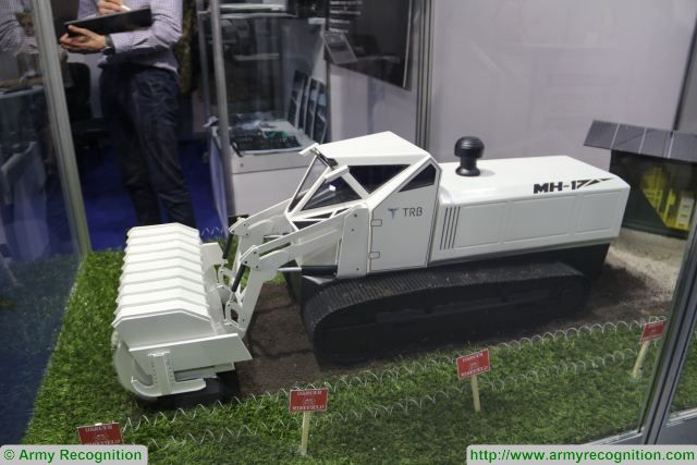 At Partner 2017, the Company TRB from Bosnia and Herzegovina unveils its new demining tracked vehicle MH-17. Following the success of its mine clearance vehicle MH-05, which is in service with more than 20 countries worldwide, TRB has developed its new mine clearance vehicle MH-17.