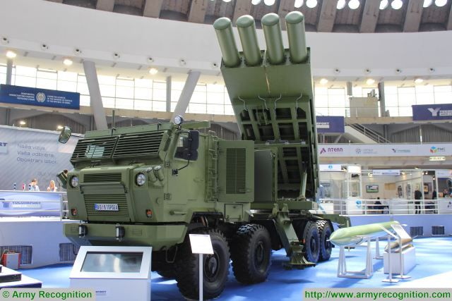 At Partner 2017, the Defense Exhibition in Belgrade, Serbian Defense Company Yugoimport unveils the Sumadija, a new multiple rocket and missile launcher system based on a 8x8 Tatra truck chassis. This artillery system is able to fire guided missiles and unguided rockets.