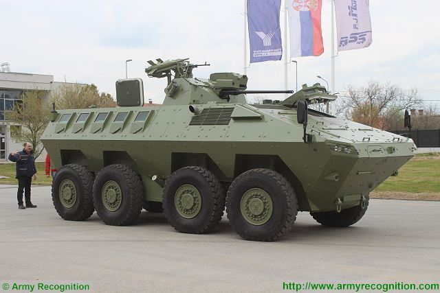 Lazar 2 8x8 MRAV MRAP Multi-Purpose armoured vehicle YugoImport Serbia Serbian defense industry military technology 640 003