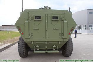Lazar 2 8x8 MRAV MRAP Multi-Purpose armoured vehicle YugoImport Serbia Serbian defense industry military technology rear side view 002
