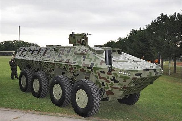 Lazar 3 8x8 wheeled armoured vehicle personnel carrier YugoImport Serbia Serbian defense industry 640 001