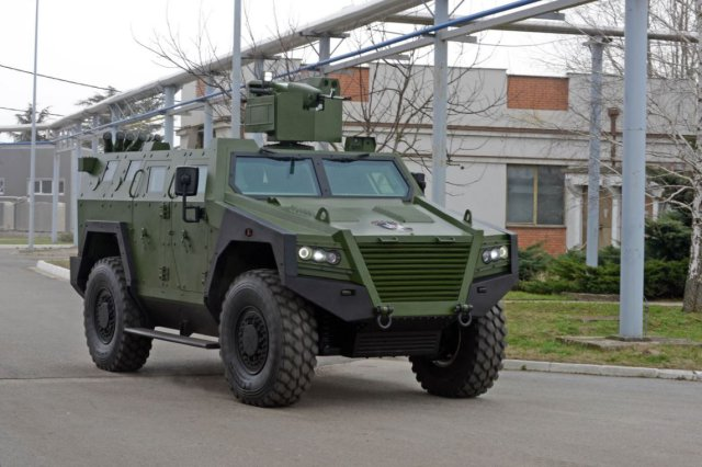 milosh bov m16 4x4 armored multi purpose combat vehicle YugoImport Serbia Serbian defense industry front view 640 001