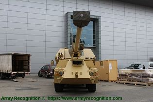 Zuzana 2 155mm 8x8 wheeled self propelled howitzer Slovakia Slovak army defense industry front view 001