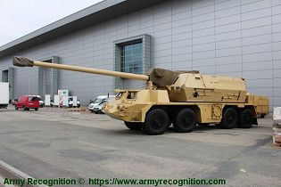 Zuzana 2 155mm 8x8 wheeled self propelled howitzer Slovakia Slovak army defense industry left side view 001