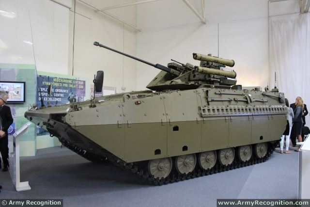 At IDEB 2014, Slovakia and the Czech Republic presents a joint project of a new modernized infantry fighting vehicle, the Sakal based on the Russian-made infantry fighting vehicle BMP-2. The vehicle is jointly produced by companies from Slovakia and Czech Republic as a project of the Slovak Ministry of Defence.