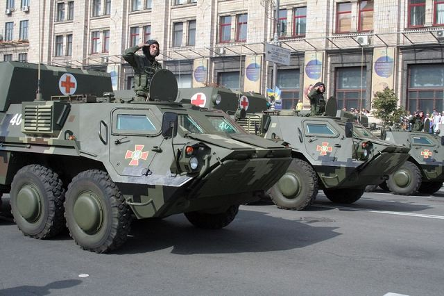 Ukraine Army BMM-4S armored medical vehicle