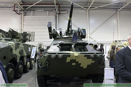 BTR 3DA 8x8 APC wheeled armoured vehicle personnel carrier Ukraine Ukrainian army defense industry front view 001