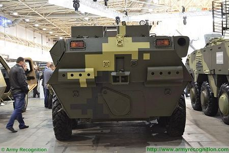 BTR 3DA 8x8 APC wheeled armoured vehicle personnel carrier Ukraine Ukrainian army defense industry rear view 001