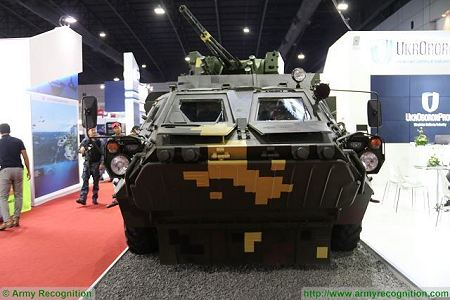 BTR 4E APC 8x8 wheeled armoured vehicle personnel carrier UKraine Ukrainian army defense industry front view 001