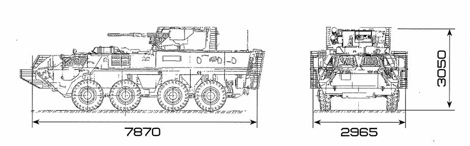 BTR 4E APC 8x8 wheeled armoured vehicle personnel carrier UKraine Ukrainian army defense industry line drawing blueprint 001