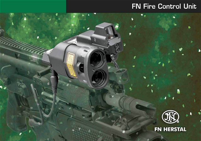 FN FCU Fire Control Unit grenade launcher Herstal technical data sheet description specifications information intelligence pictures photos images Belgium Belgian army weapons Defence industry military technology