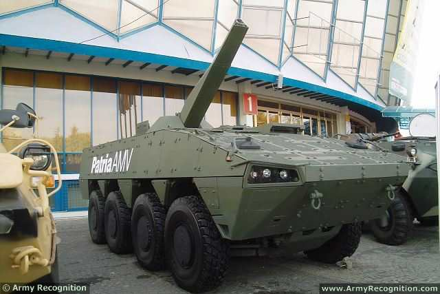NEMO Patria 8x8 AMV 120mm wheeled self-propelled mortar carrier Finland Finnish defense industry military equipment 640