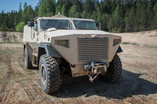 GTP 4x4 SISU modular wheeled armored vehicle APC Finland Finnish defense industry front view 001