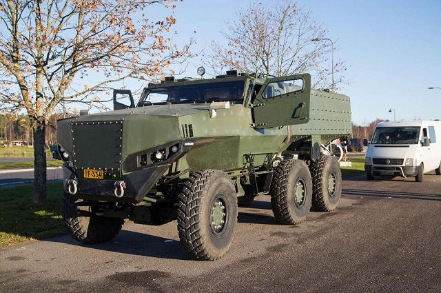 PMPV 6x6 MiSu Protolab MRAP Mine-Resistant Ambush Protected vehicle Finland  Finnish defense industry 640 001