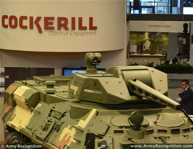 To increase the tactical options open to mechanised infantry, reconnaissance units and other light and highly mobile forces, and to increase their operational effectiveness and crew survivability, CMI Defence has developed the Cockerill CPWS protected medium-calibre remote weapon station. At Eurosatory 2014, the CPWS was mounted on Ukrainian BTR-3E to show that this turret can be easily integrated to a full range of combat vehicles.