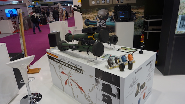 Eurosatory 2016 Instalaza showcased its confined spaces AT launcher C90