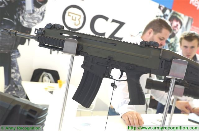 Czech firearms manufacturer CZ presents its CZ 806 Bren 2 assault rifle at Eurosatory 2016 640 001