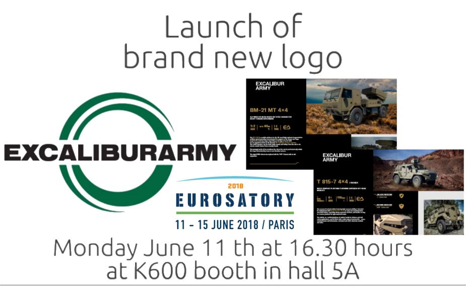 Eurosatory 2018 Excalibur army new brand logo launch and defense products 925 001