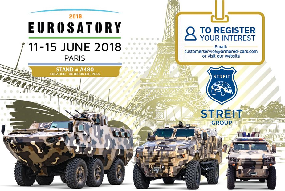 Eurosatory 2018 Streit Group new generation of land and sea military products 925 001