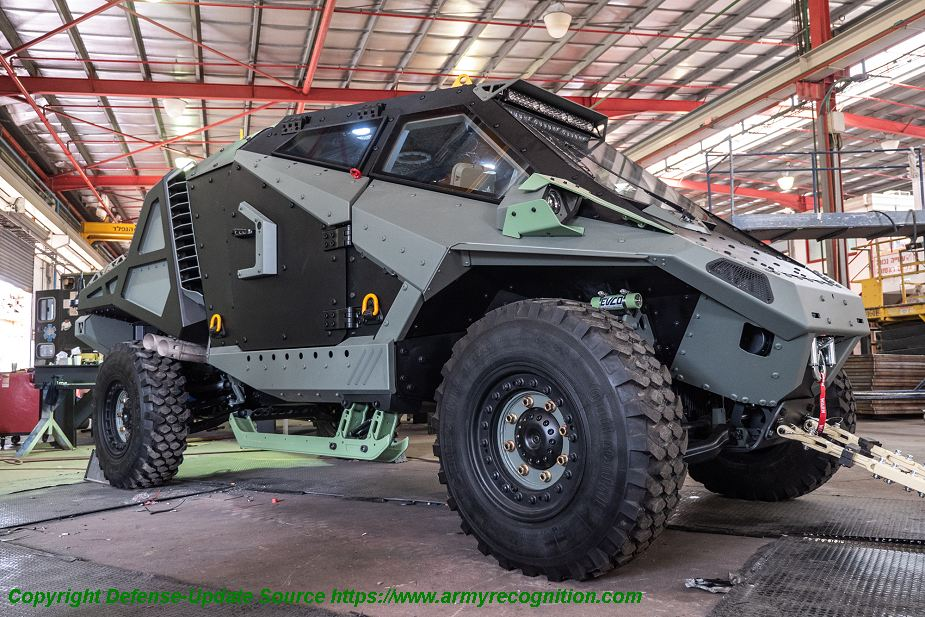 eurosatory 2018  carmor from israel unveils mantis protected tactical vehicle