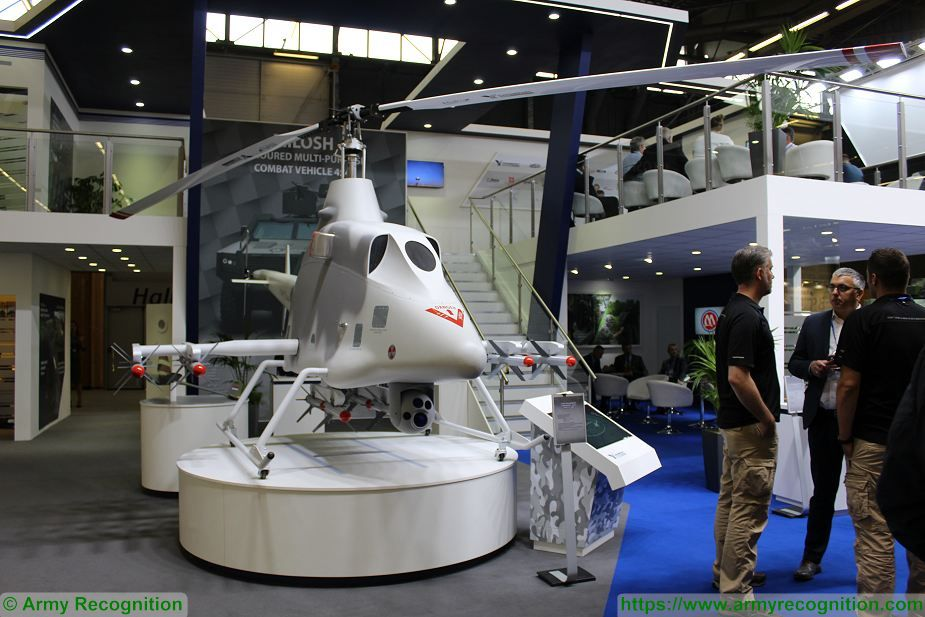 Yugoimport from Serbia presents armed drone helicopter Strsljen Eurosatory 2018 925 001