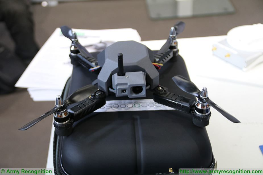 Aeraccess from France unveils Hawkeye nano drone at Milipol Paris 2017 925 001