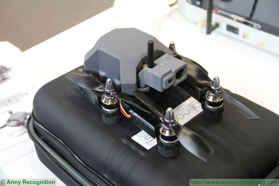 Aeraccess from France unveils Hawkeye nano drone at Milipol Paris 2017 925 002