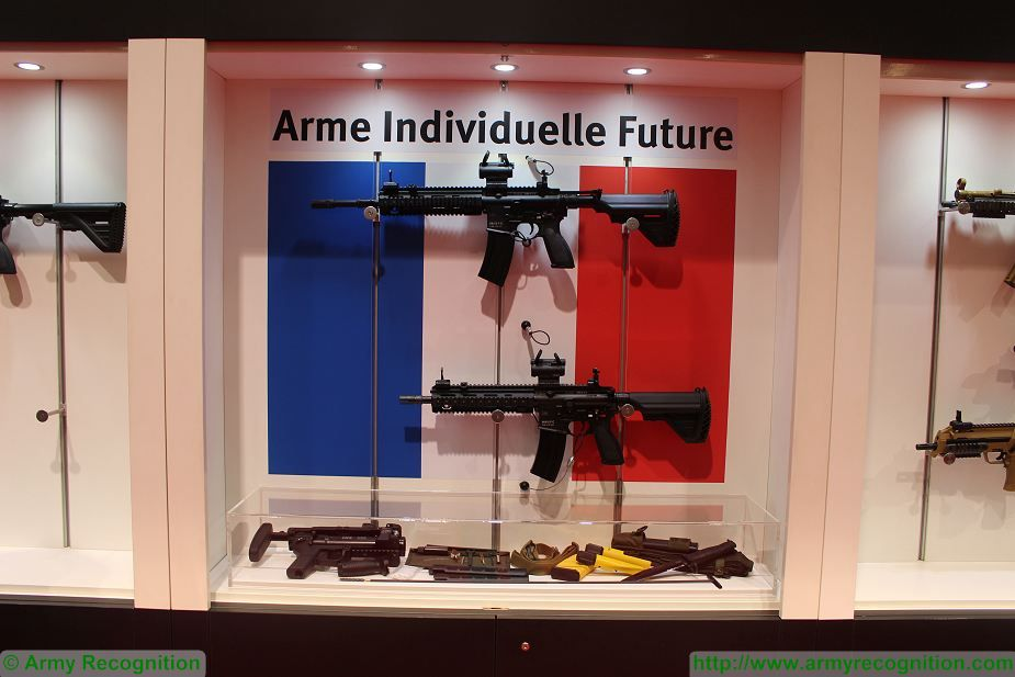 New French Army assault rifles HK416 F C F S at Milipol Paris 2017 925 001