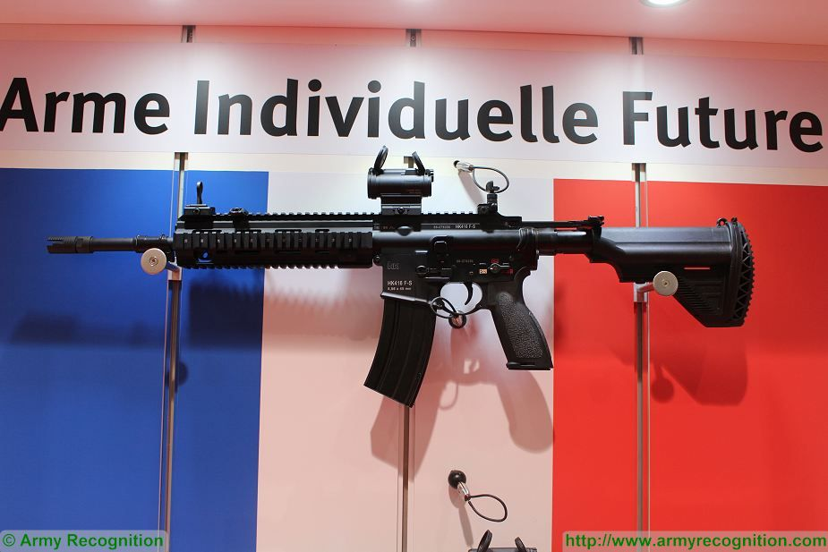 New French Army assault rifles HK416 F S at Milipol Paris 2017 925 001
