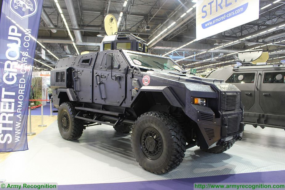 Streit Group security vehicles 4x4 armoured Scorpion Gepard Python at Milipol Paris 2017 France 925 001