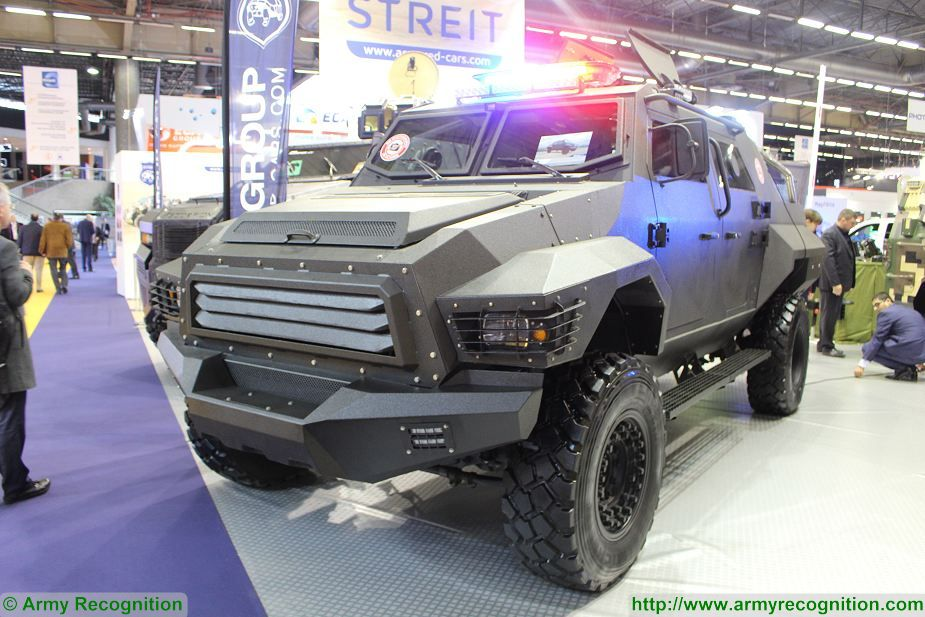Streit Group security vehicles 4x4 armoured Scorpion Gepard Python at Milipol Paris 2017 France 925 003