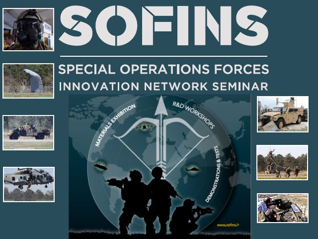 SOFINS 2017 TV Television news pictures photos images video Special Operations Forces Innovation Network Seminar Exhibition military equipment Camp Souge Military Base France French army