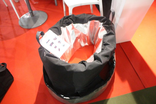 At Sofins 2017, the French Company Sema World presented its Ground Bomb Killer (GBK), a new innovative solution and effective anti-bomb bag. This equipment is design to provide protection and reduce the risk of injury in case of explosion of terrorist bomb or suspicious object.