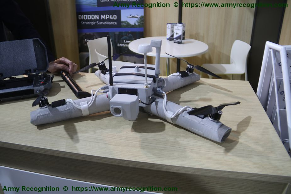 French Company DIODON presents its new MP40 inflatable drone SOFINS 2019 925 001
