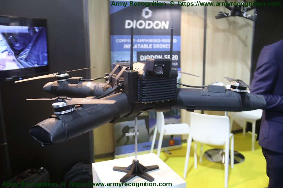 French Company DIODON presents its new MP40 inflatable drone SOFINS 2019 925 002