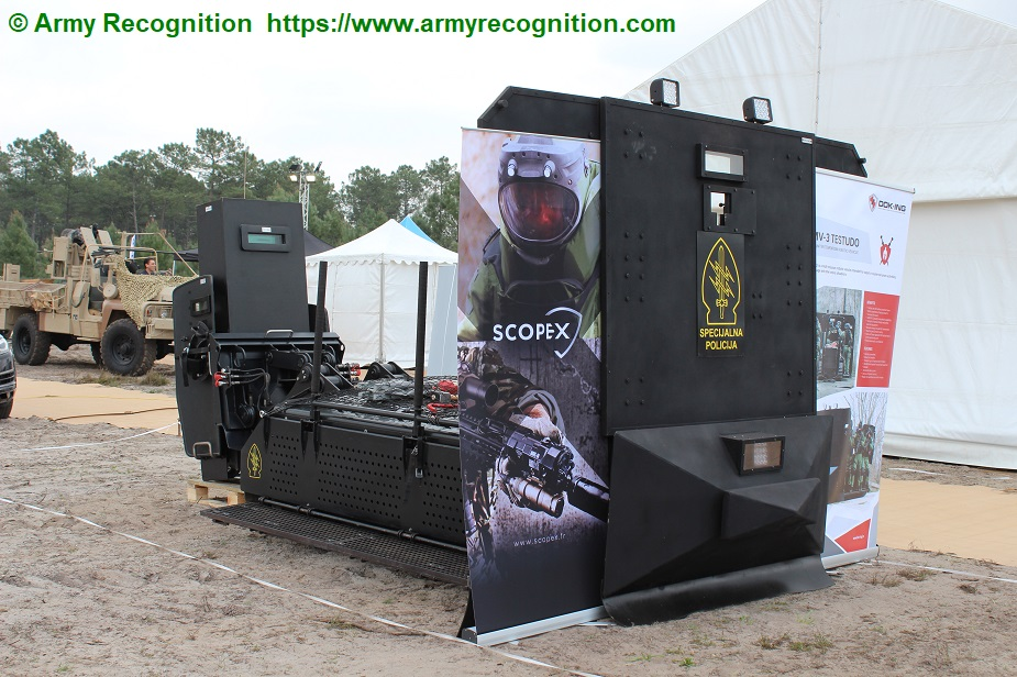 SOFINS 2019 DOK ING showcases MV 3 Testudo Counter Terrorism Robotic Vehicle