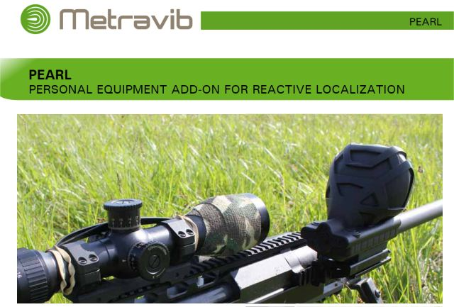 PEARL Personal Equipment Add-on for Reactive Gunshot Localization technical data sheet specifications information description pictures photos images video intelligence identification intelligence ACOEM Metravib France French army defence industry military technology