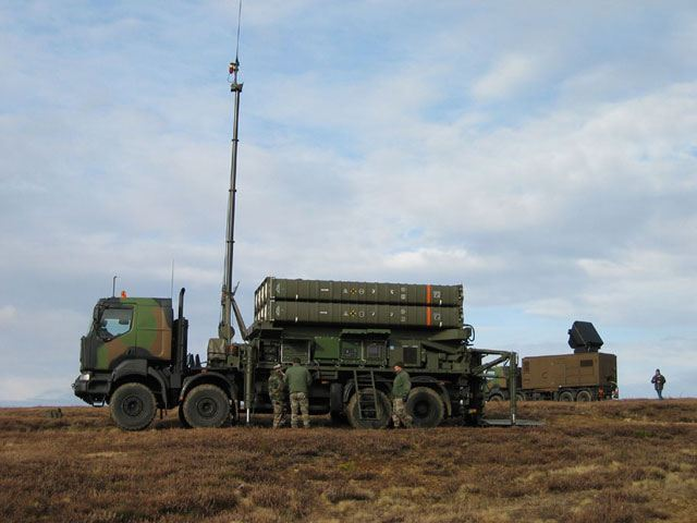 French-made SAMP air defense missile system