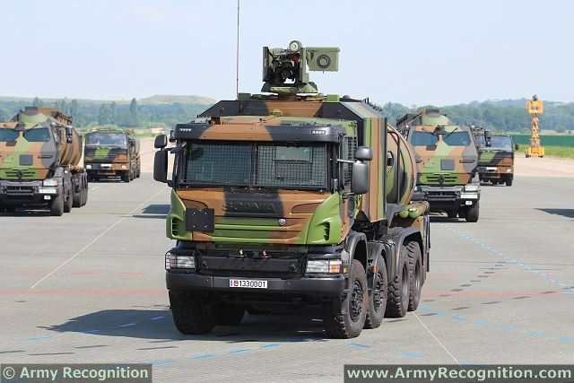 During the rehearsal of military parade for the Bastille Day 2013, French Army has unveiled a new military fuel tanker truck, the CaRaPACE (Camion Ravitailleur Pétrolier de l'Avant à Capacité étendue). To reduce the vulnerability of its vehicles in overseas operations, the SEA (Fuel Services of French Army) has launched the acquisition of a deployable trucks equipped with armoured cabin and a self-protection weapon.