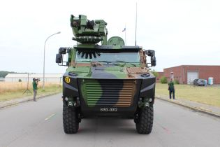 Griffon VBMR 6x6 Armoured Multi role vehicle France French army defense industry military equipment front side view 004