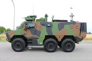 Griffon VBMR 6x6 Armoured Multi role vehicle France French army defense industry military equipment left side view 004