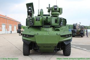 Jaguar EBRC 6x6 Reconnaissance and Combat Armoured Vehicle France French army defense industry front view 003