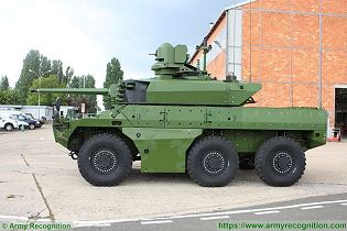 Jaguar EBRC 6x6 Reconnaissance and Combat Armoured Vehicle France French army defense industry left side view 003