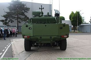 Jaguar EBRC 6x6 Reconnaissance and Combat Armoured Vehicle France French army defense industry rear view 003